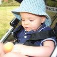 Nate picks a peach