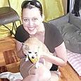 With my new doggie friend Honey