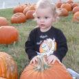 Nate in the pumpkin patch