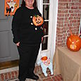 Mom shows off her Halloween finest
