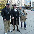 Dad and I start our walk on the Freedom Trail