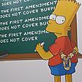 Part of a First Amendment exhibit