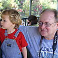 Nate and Grandpa watching the scenery