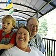Grandma and Grandpa take Nate on his first train ride