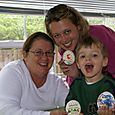Mom, Nate and I with our Easter cookies