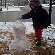 Nate's first snowman